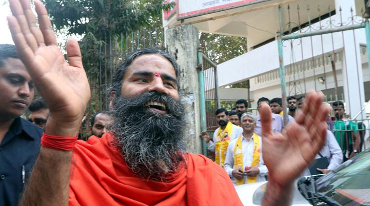 Yoga guru Baba Ramdev addresses a press conference at Mumbai Marathi Patrakar Sangh on Saturday.Express Photo By-Ganesh Shirsekar09/01/2016