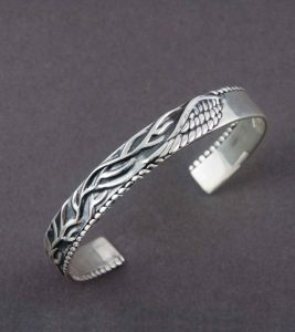 Roots and Wings Cuff Bangle