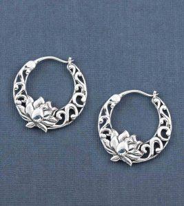 lotus blossom jaali earrings