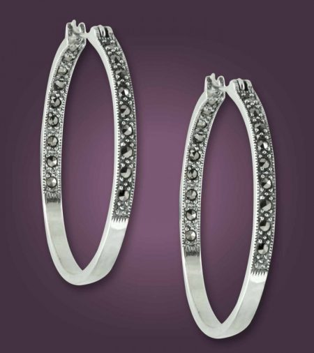 Silver Hoop Earrings for Women Online