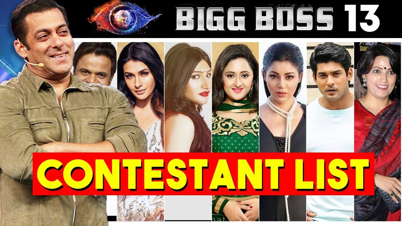 Bigg Boss 13 Contestants List Yoursnews